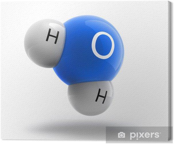 Obraz na płótnie White Blue cząsteczka wody - Nauki stosowane i ścisłe