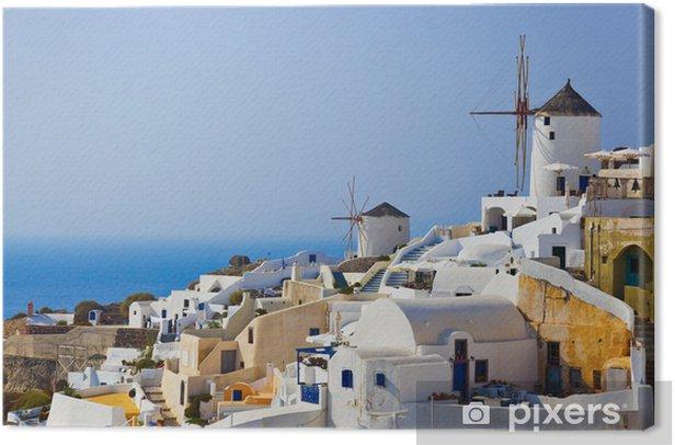 Obraz na płótnie Wiatrak w Oia na Santorini, Grecja - Wakacje