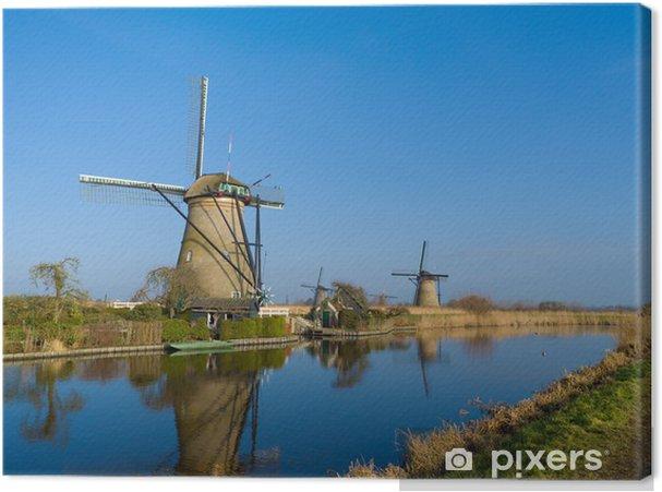 Obraz na płótnie Wiatraki holenderskie - Infrastruktura