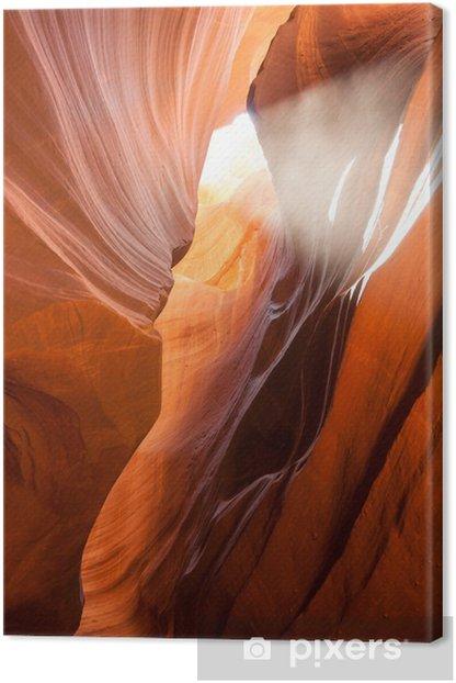 Obraz na płótnie Wiązka światła w Antelope Canyon w Arizonie - Ameryka