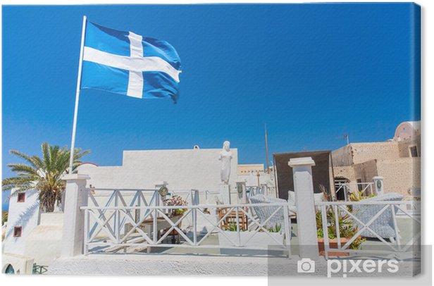 Obraz na płótnie Widok Fira miasta - Santorini, Kreta, Grecja. - Europa