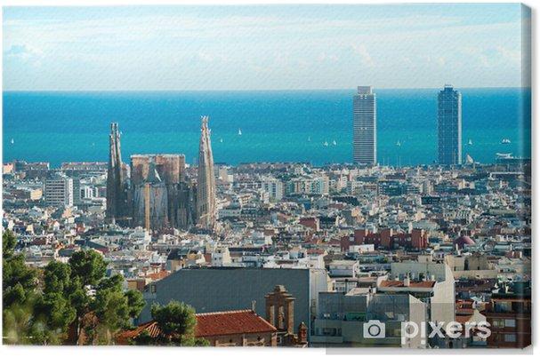 Obraz na płótnie Widok katedry Sagrada Familia i portu z Parku Guell. barcelona, spa - Przeznaczenia