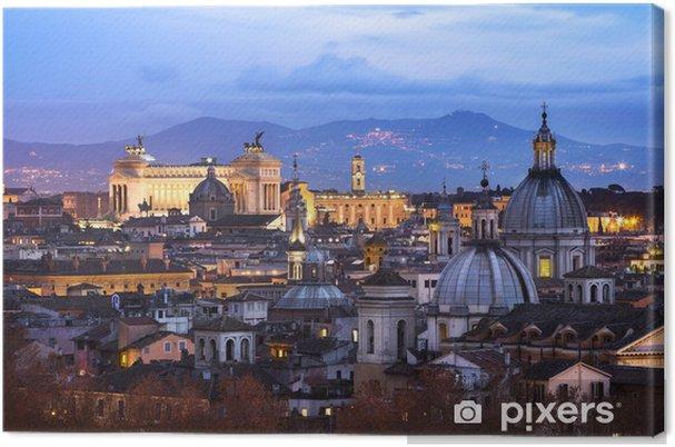 Obraz na płótnie Widok na dachy Rzymu - Tematy