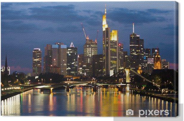 Obraz na płótnie Widok na Frankfurt - Tematy
