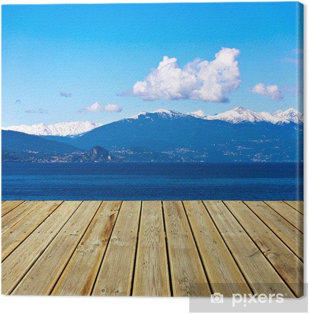 Obraz na płótnie Widok na góry - Niebo