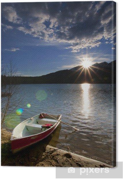 Obraz na płótnie Widok na jezioro - Niebo