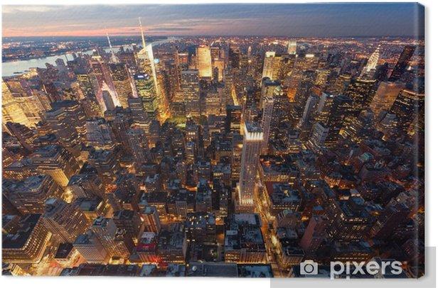 Obraz na płótnie Widok na Manhattan z lotu ptaka -