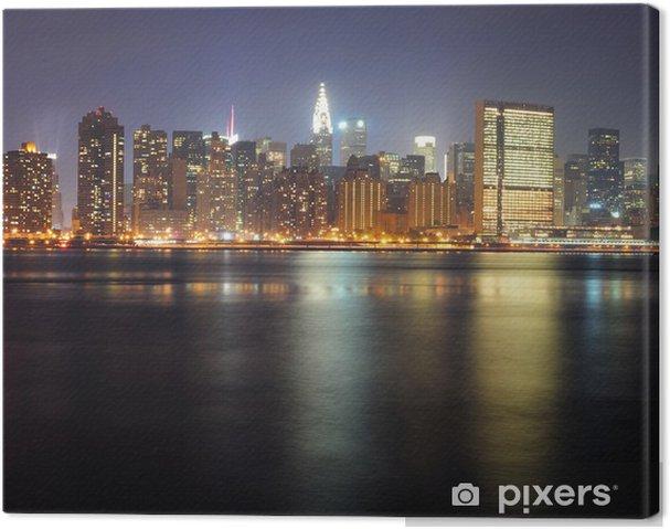 Obraz na płótnie Widok na miasto nocy Miejska - Ameryka