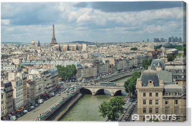 Obraz na płótnie Widok na Paryż tworzą Notre Dame. - Tematy