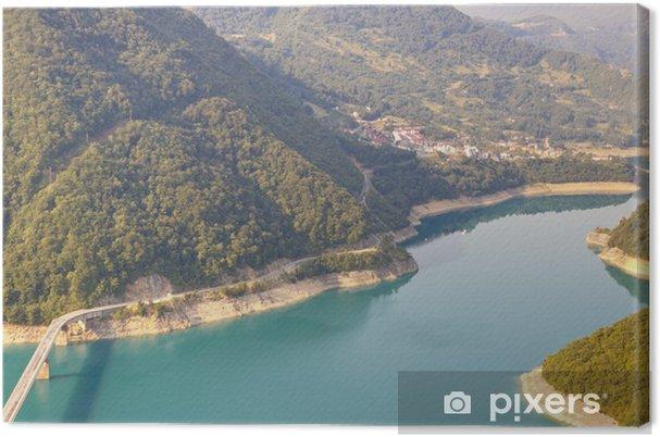 Obraz na płótnie Widok na rzekę Piva - Czarnogóra - Woda
