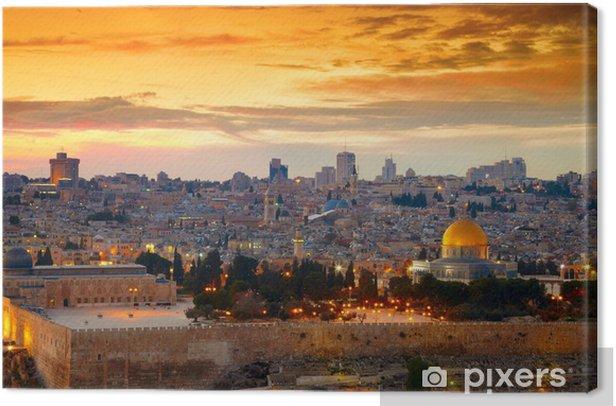 Obraz na płótnie Widok na Stare Miasto w Jerozolimie. Izrael - Tematy