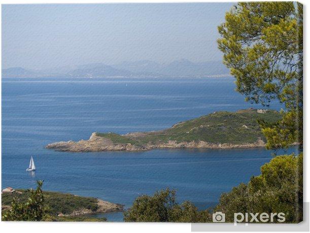 Obraz na płótnie Widok od strony francuskiej wyspie Port-Cros w morzu śródziemnym - Woda