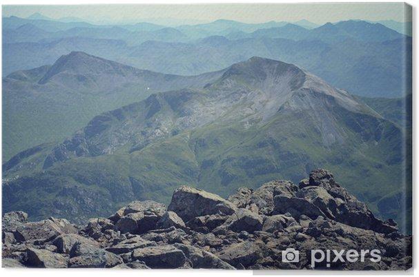 Obraz na płótnie Widok od szczytu Ben Nevis - filtrowany obraz - Europa