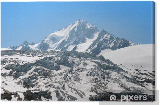 Obraz na płótnie Widok ogromnej Blanc Mont, Francja - Europa