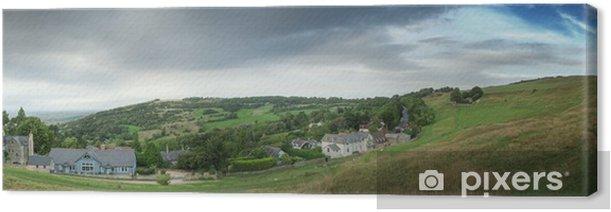 Obraz na płótnie Widok z domków z Anglii, na wzgórzu - Krajobraz wiejski