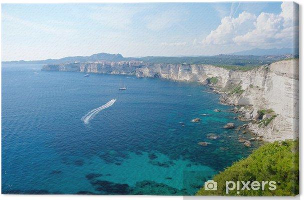 Obraz na płótnie Widok z klifu Bonifacio, Korsyka, Francja - Europa