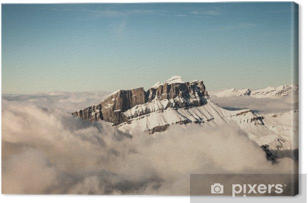 Obraz na płótnie Widok z lotu ptaka Alpach francuskich - Europa