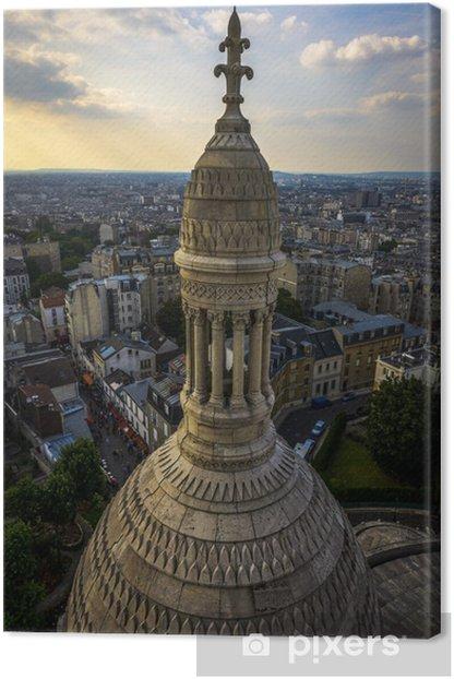 Obraz na płótnie Widok z lotu ptaka Paryżu z Sacre-Coeur - Zabytki
