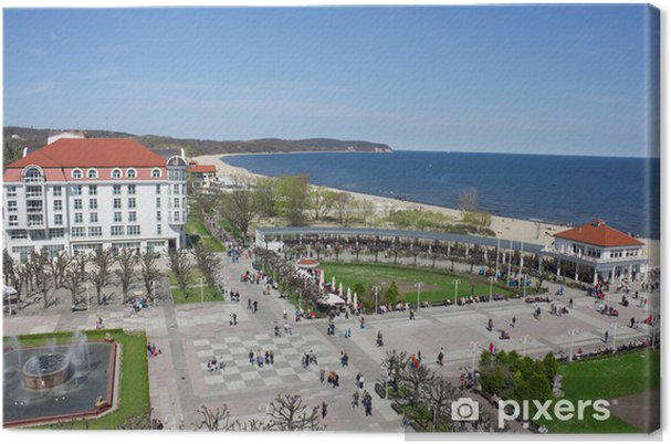 Obraz na płótnie Widok z lotu ptaka słynnym kurorcie nad morzem, Sopot, Polska - Tematy