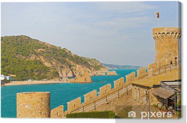 Obraz na płótnie Widok z miejscowości Tossa de Mar od starego zamku, Costa Brava, S - Europa
