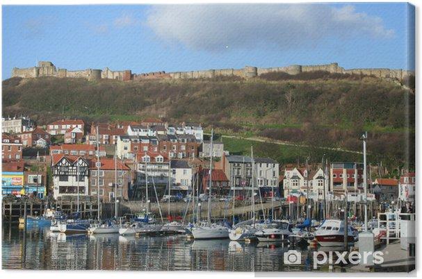 Obraz na płótnie Widok z nabrzeża z Scarborough w Yorkshire Wielka Brytania - Europa