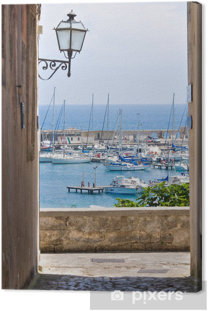 Obraz na płótnie Widok z Otranto. Puglia. włochy. -