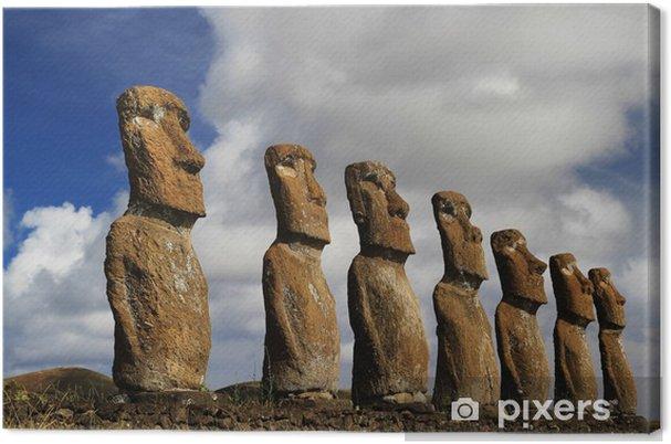 Obraz na płótnie Widok z siedmiu moai Akivi move - Ameryka