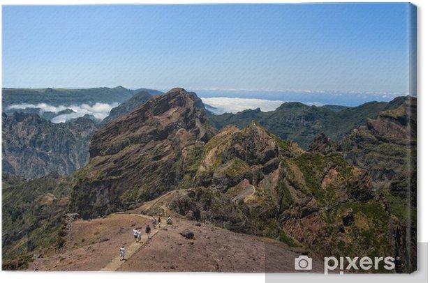Obraz na płótnie Widok z szczytu mulnik, drewno - Góry