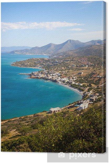 Obraz na płótnie Widok z wybrzeża w pobliżu Aghios Nikolaos na Krecie w Grecji wyspie - Europa