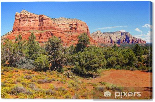 Obraz na płótnie Widok z życiem czerwonych skałach Sedona, Arizona, USA - Ameryka