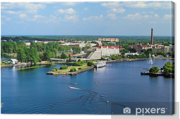 Obraz na płótnie Widok Zatoki Wyborg z wieży zamku - Inne Inne