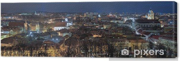 Obraz na płótnie Wieczorem panorama Starego Miasta w Wilnie, Litwa - Europa