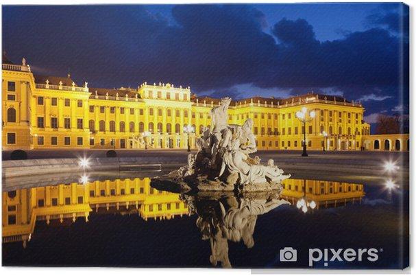 Obraz na płótnie Wiedeń nocą, Schönbrunn - Miasta europejskie