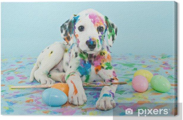 Obraz na płótnie Wielkanoc dalmatain szczeniaka - Tematy