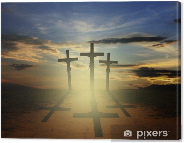 Obraz na płótnie Wielkanoc trzy krzyże Pojęcie religii - Religie