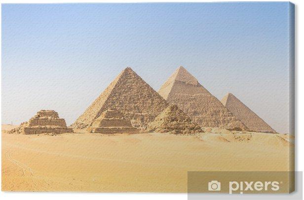 Obraz na płótnie Wielkie Piramidy w Gizie doliny, Kair, Egipt - Afryka