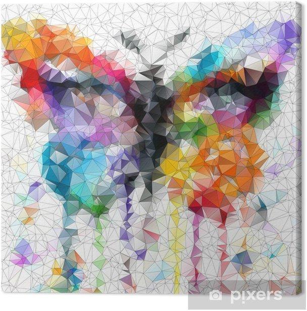 Obraz na płótnie Wielokolorowy jasny motyl abstrakcyjne geometryczne tło - Style