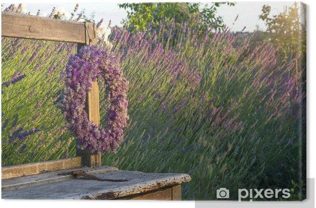 Obraz na płótnie Wieniec kwiatów lawendy - Kwiaty