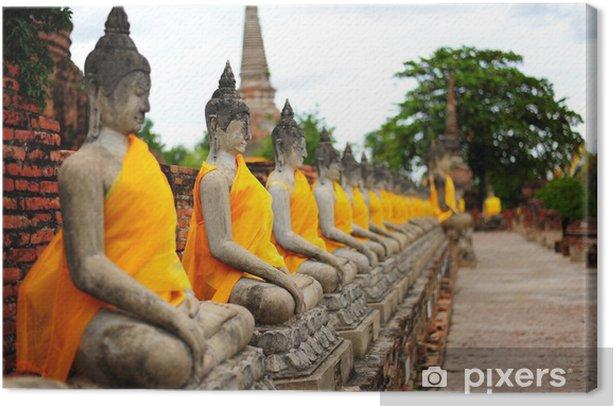 Obraz na płótnie Wiersz starych kamiennych posągów Buddy - Zabytki