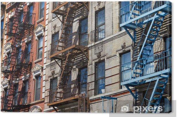 Obraz na płótnie Wiersz z kolorowych budynków w Nowym Jorku - Miasta amerykańskie