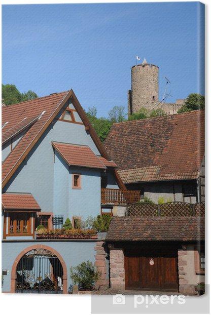 Obraz na płótnie Wieś Kaysersberg w Alzacji - Wakacje