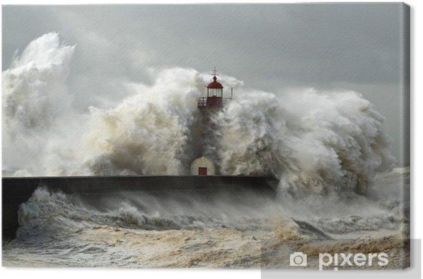 Obraz na płótnie Wietrzne wybrzeże - Latarnia morska