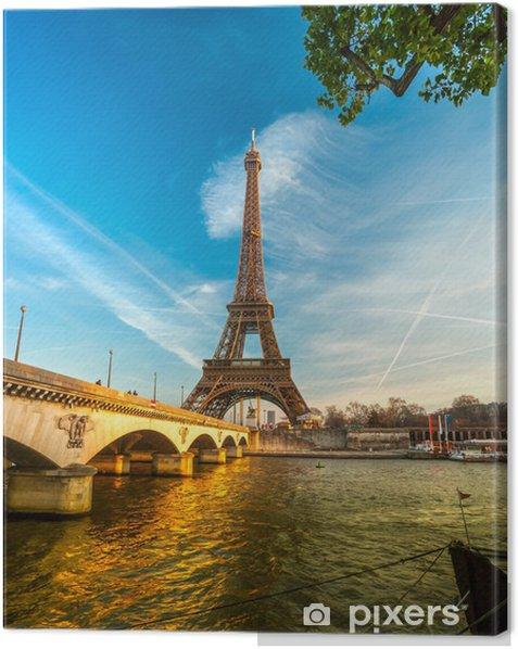 Obraz na płótnie Wieża Eiffla na wschód słońca, Paryż. - Tematy