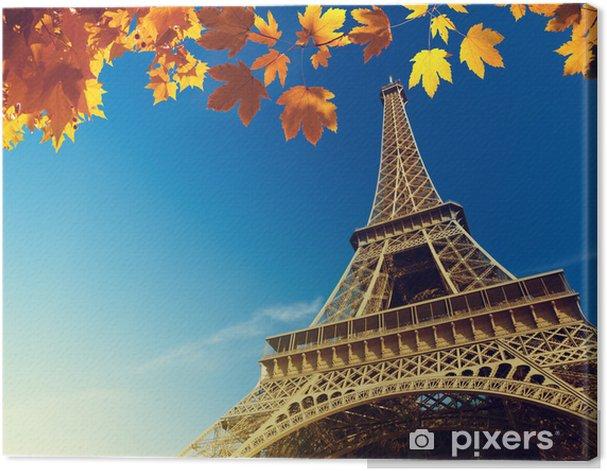 Obraz na płótnie Wieża Eiffla w czasie jesieni - Miasta europejskie