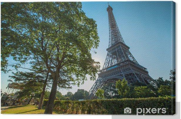 Obraz na płótnie Wieża Eiffla w słońcu - Miasta europejskie