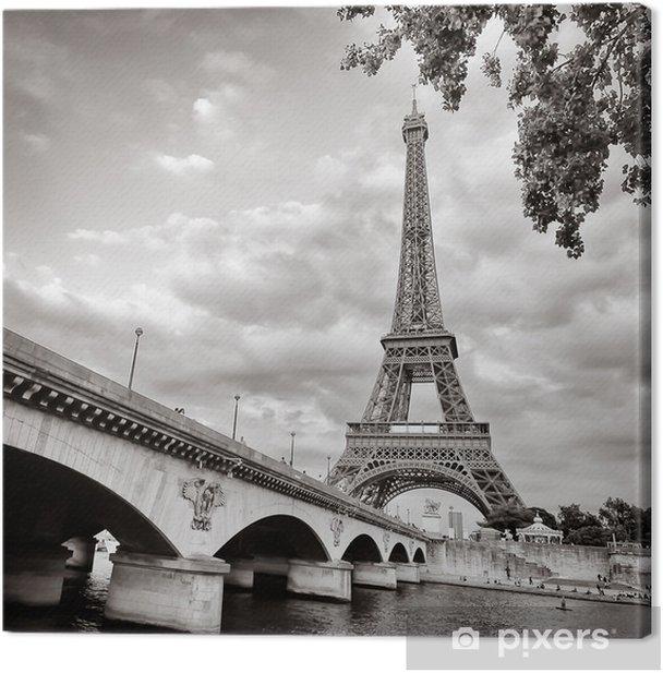 Obraz na płótnie Wieża Eiffla widok z rzeki kwadratowym formacie seine - Tematy