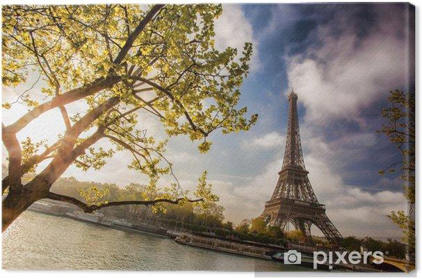 Obraz na płótnie Wieża Eiffla z łodzi na Sekwanie w Paryżu, Francja - Tematy