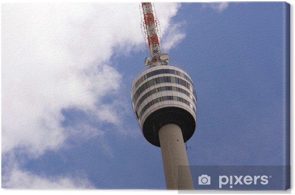 Obraz na płótnie Wieża telewizyjna w Stuttgarcie - Europa
