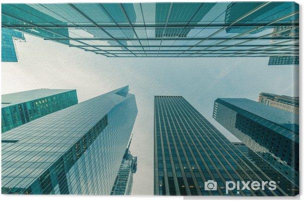 Obraz na płótnie Wieżowce New York vew z poziomu ulicy - Budynki i architektura