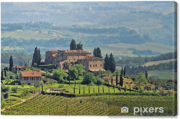 Obraz na płótnie Winnica Toskania 04 - Tematy